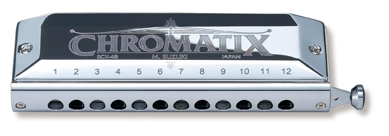 Suzuki SCX-48 Chromatic Harmonica - key: F